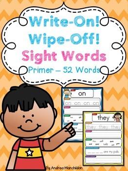 Math & Literacy Center - Write and Wipe