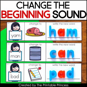 CVC Words, Phoneme Substitution Change the Beginning Sound