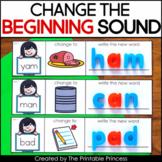 CVC Words, Phoneme Substitution Change the Beginning Sound with Google Slides