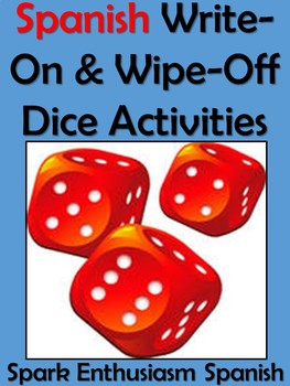 Write-On & Wipe-Off Dice Activities / Ton of Games for Spa