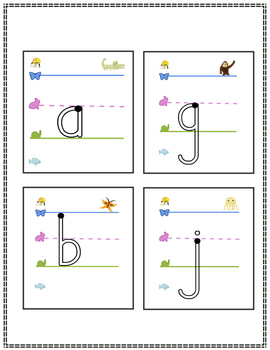 Write On Wipe Off Handwriting Style Giant Lowercase Letters