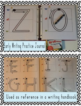 Write On Wipe Off Handwriting Worksheets Style Giant Letters