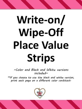 Write-On, Wipe-Off Place Value Strips