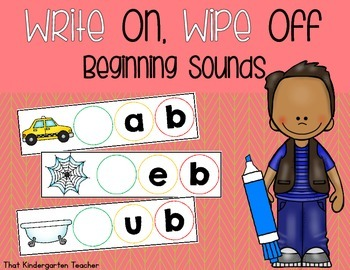 Write On, Wipe Off {Beginning Sounds}