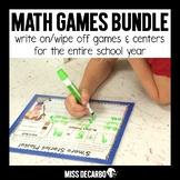 Write On Wipe Off Math Centers and Games BUNDLE PACK