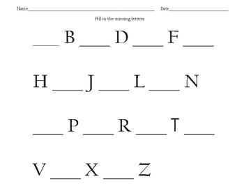 Write Or Paste ABCs