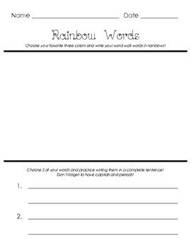 Write Rainbow Words