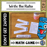 Write Ratios Don't Get ZAPPED Math Game