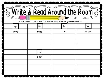 Write & Read Around the Room: Differentiated Pack