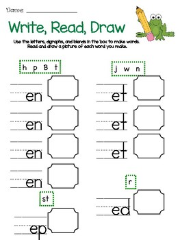 Write, Read, Draw with Short Vowels