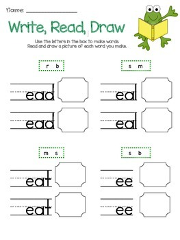 Write, Read, Draw with Long Vowels