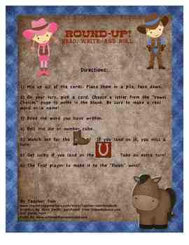 Write, Read, & Roll #2: Round-Up! CVC Vowels