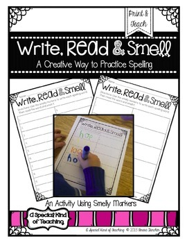 Write, Read & Smell {A Creative Way to Practice Spelling with Smelly Markers}