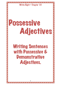 EFL Write Right Chapter 10 - Possessive Adjectives