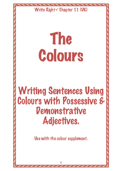 EFL Write Right Chapter 11 (UK) - The Colours