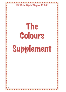 EFL Write Right Chapter 11 (US) - The Colors Supplement