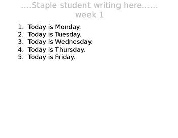 Write Right Dictation Sentences 11 Week plan :-)