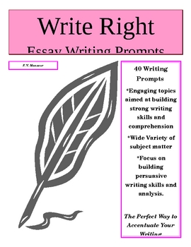 Write Right Essay Writing Prompts