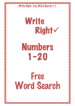 Write Right Word Search - Free 1