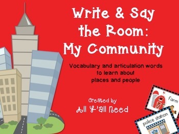 Write & Say the Room: My Community