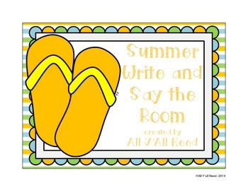 Write & Say the Room: Summer