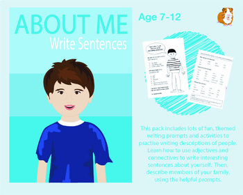 Write Sentences About Me (7-11 years)