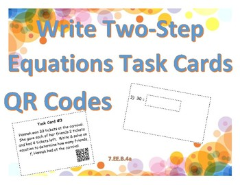 Write & Solve One & Two-Step Equations Activities Bundle