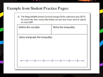 Write, Solve, and Graph Inequalities