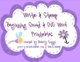 Write & Stamp Beginning Sound & CVC Word Printables
