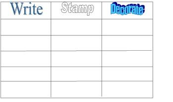 Write, Stamp, Decorate