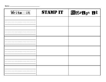 Write, Stamp, Design