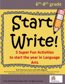 Write Start! 5 Fun Language Arts Activities to Start the Year