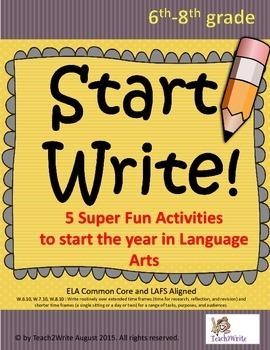 Write Start! 5 Fun Language Arts Activities to Start the Year