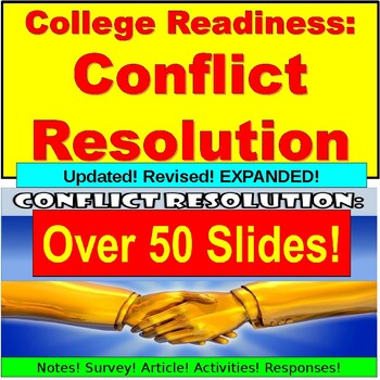 Write Start: Conflict Resolution Notes, Activity, Response PPT