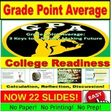 GPA Calculation and Reflection PowerPoint for avid, underserved learners