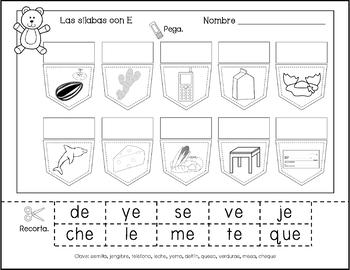 Write Syllables by Vowel Groups - Escribe Sílabas por Grupos de las Vocales