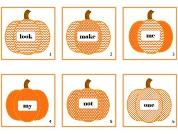 Write The Room  10 short i & 10 preprimer Autumn Fall Pumpkin