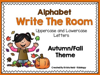 Write The Room – Alphabet – Autumn Theme- Activity, Games and Printables