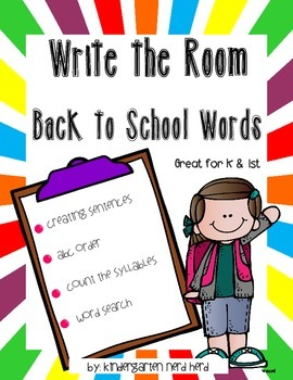 Write The Room: Back to School Words