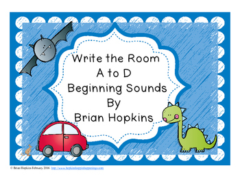 Write The Room Beginning Sounds A to D