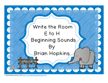Write The Room Beginning Sounds E to H