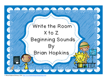 Write The Room Beginning Sounds X to Z