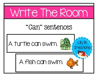 "Write The Room ~ ""Can"" Sentences"