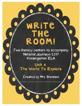Write-The-Room Centers for National Journeys 2017 Kindergarten Unit 4