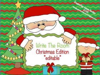 Write The Room - Christmas Edition *editable*