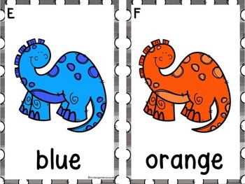 Write The Room Color Words -Dinosaurs