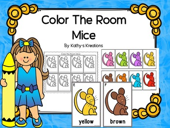 Color Words Write The Room - Mice