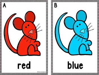 Color Word Write The Room - Mice