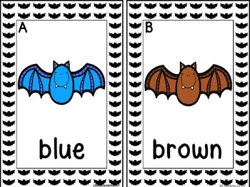 Write The Room Colors and Color Clip Cards (Bats)