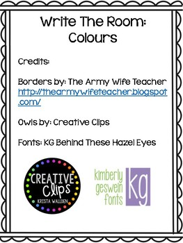 Write The Room: Colours